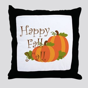 Happy Fall Y'all Throw Pillow