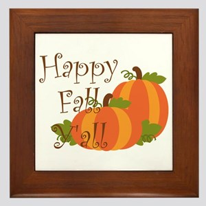 Happy Fall Y'all Framed Tile