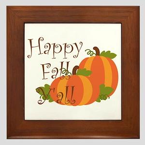 Happy Fall Y'all Framed Tile
