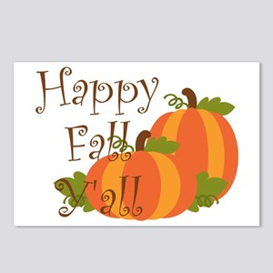 Happy Fall Y'all Postcards (Package of 8)
