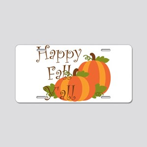 Happy Fall Y'all Aluminum License Plate