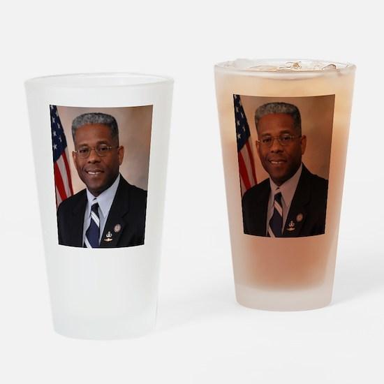 Tea Party favorite Allen West Drinking Glass
