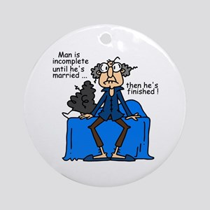 Men and Marriage Ornament (Round)