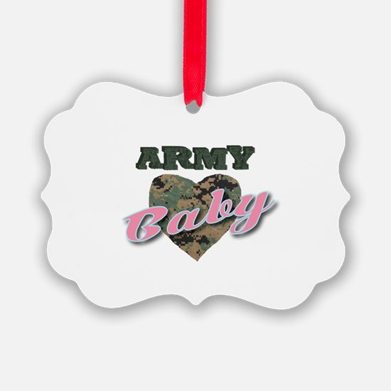 Patriotic American camouflage heart U.S. Army Baby
