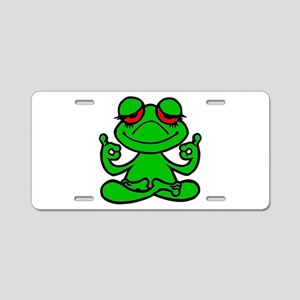 Frog Lotus Aluminum License Plate