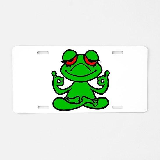 Frog Lotus Aluminum License Plate