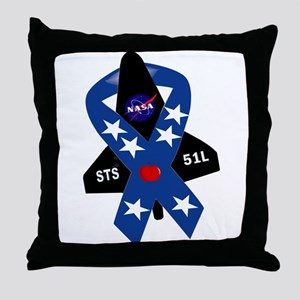 Challenger Commemorative Patch Throw Pillow