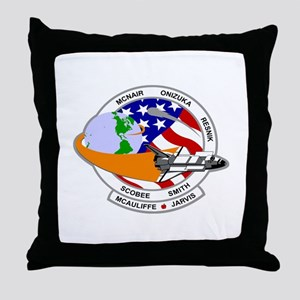 STS-52L Challenger's Last Throw Pillow