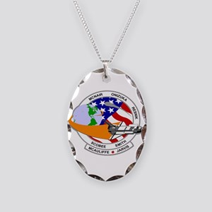 STS-52L Challenger's Last Necklace Oval Charm
