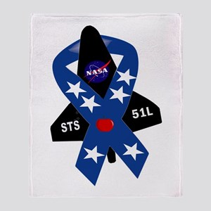 Challenger Commemorative Patch Throw Blanket