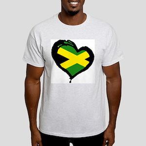 Jamaica One Heart Ash Grey T-Shirt