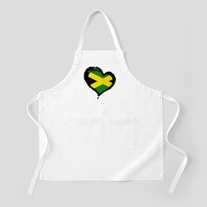 Jamaica One Heart BBQ Apron