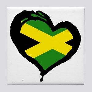 Jamaica One Heart Tile Coaster