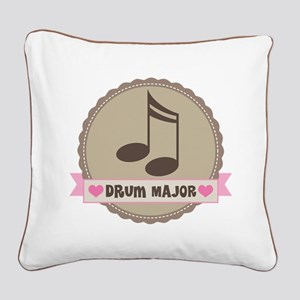 Drum Major gift Square Canvas Pillow