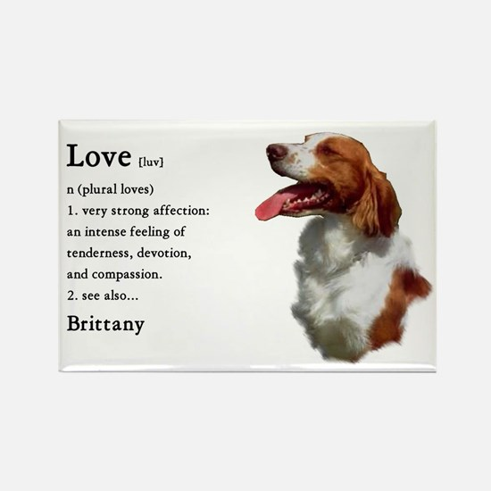 American Brittany Spaniel Rectangle Magnet (10 pac