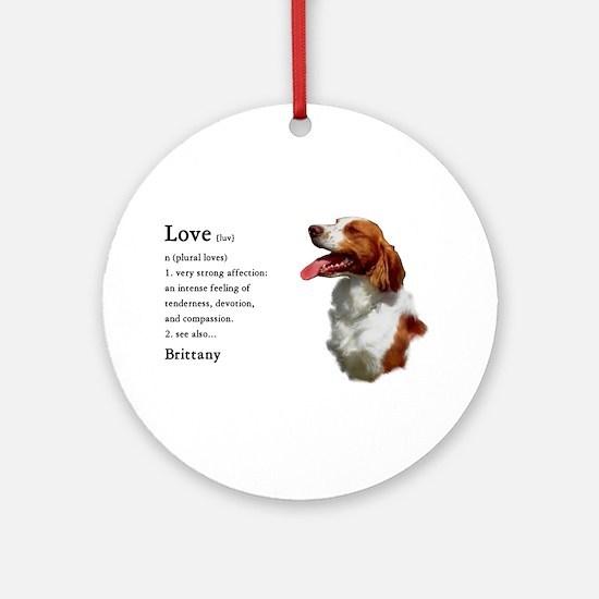 American Brittany Spaniel Ornament (Round)