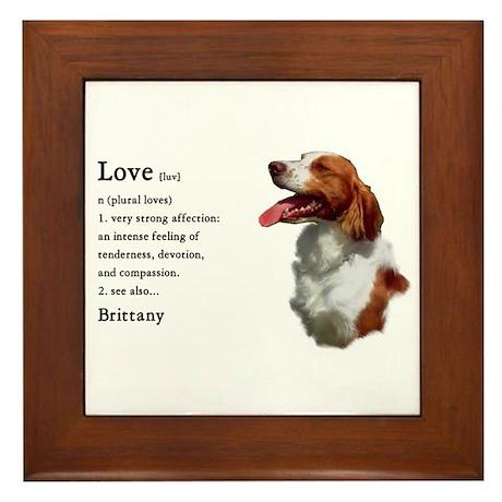 American Brittany Spaniel Framed Tile