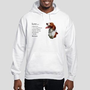 American Brittany Spaniel Hooded Sweatshirt
