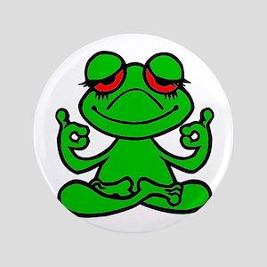 """Frog Lotus 3.5"""" Button"""
