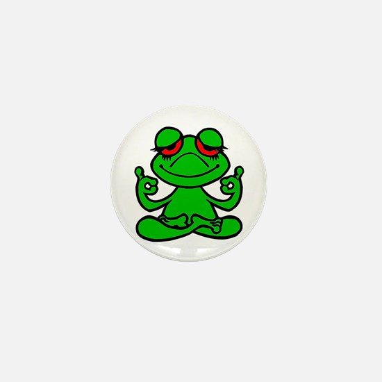 Frog Lotus Mini Button
