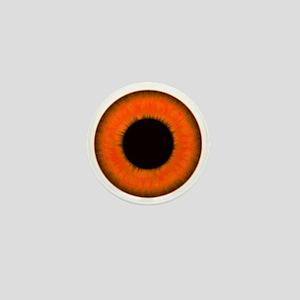 Halloween Orange Eye Mini Button