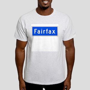 Fairfax Ave., Los Angeles - USA Ash Grey T-Shirt