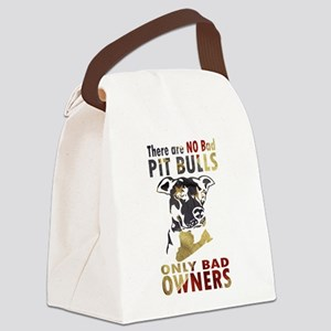 NO BAD PIT BULLS AF4 Canvas Lunch Bag