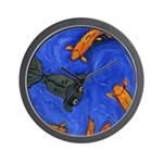 Swimming Goldfish Wall Clock