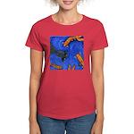 """Women's Dark T-Shirt """"Swimming Goldfish Design"""""""