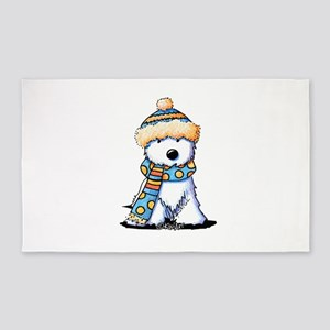 Winter Whimsy Westie 3'x5' Area Rug
