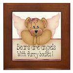 Bears are Angel's Framed Tile