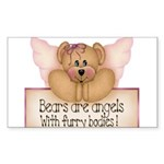 Bears are Angel's Rectangle Sticker