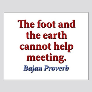 The Foot And The Earth Small Poster