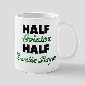 Half Aviator Half Zombie Slayer Mugs