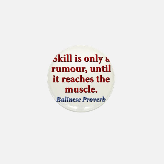 Skill Is Only A Rumor Mini Button