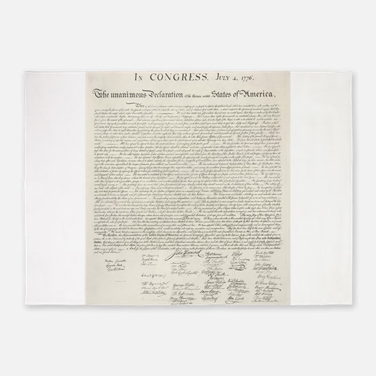 United States Declaration of Independence 5'x7'Are