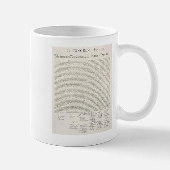 United States Declaration of Independence Mugs