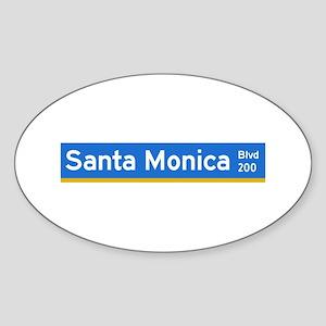 Santa Monica Blvd., Los Angeles - USA Sticker (Ov
