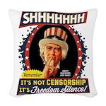 Freedom Silence Woven Throw Pillow
