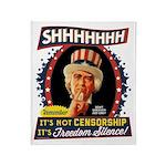 Freedom Silence Throw Blanket