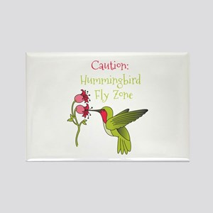 Caution: Hummingbird Fly Zone Magnets