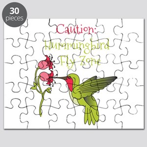 Caution: Hummingbird Fly Zone Puzzle