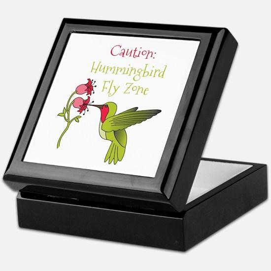Caution: Hummingbird Fly Zone Keepsake Box