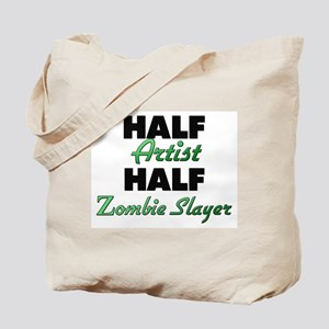Half Artist Half Zombie Slayer Tote Bag