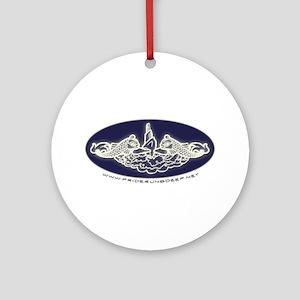 Submarine Dolphins Ornament (Round)