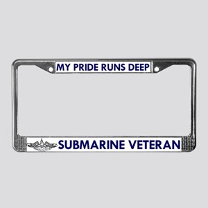 Submarine Veteran Dolphins License Plate Frame