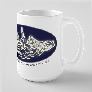 Submarine Dolphins Large Mug