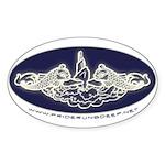 Submarine Dolphins Sticker (Oval)