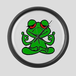 Frog Lotus Large Wall Clock