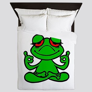 Frog Lotus Queen Duvet